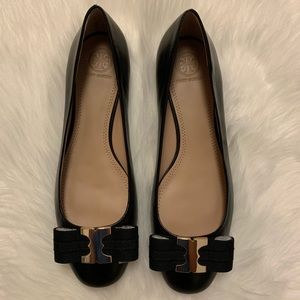 Tory Burch Gemini Bow Leather Flat ✨never used